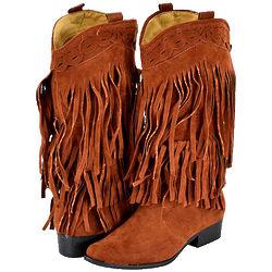 Brown Fringe Cowboy Boots