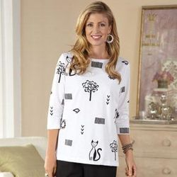 Cats Shirt with 3/4 Sleeves