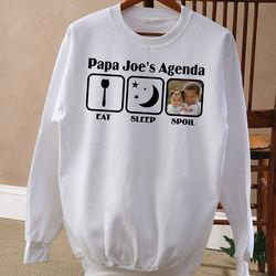 His Agenda Personalized White Sweatshirt