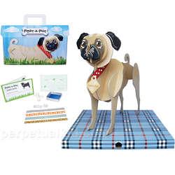 Port-a-Pug Cardboard Dog