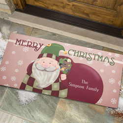 Vintage Santa Personalized Large Christmas Doormat