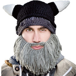 Barbarian Looter Hat with Gray Beard