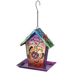 Painted Butterfly Solar Garden Lantern