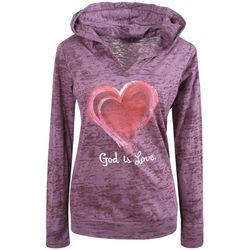 God Is Love Burnout Hoodie