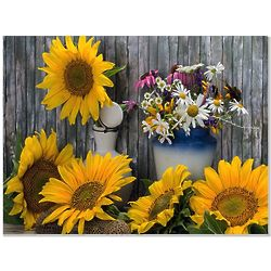Personalized Sunflowers Tempered Glass Cutting Board