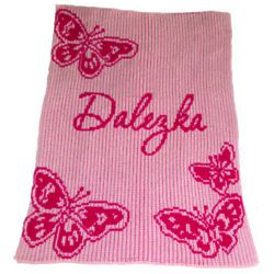 Baby's Handcrafted Personalized Butterfly Blanket
