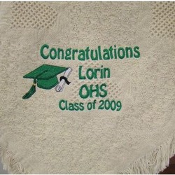 Congratulations Graduate Personalized Basketweave Afghan