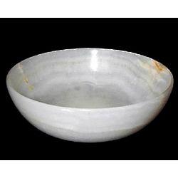 White Onyx Gemstone 6 Inch Bowl