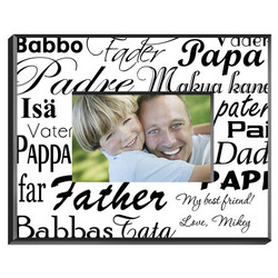 Personalized Dad in Translation Picture Frame