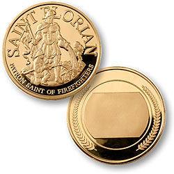 Fireman St. Florian Engravable Keepsake Coin