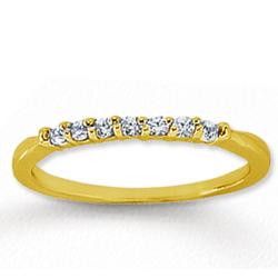 14k Yellow Gold 7 Stone Diamond Anniversary Band