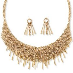 Bib Necklace and Earring Set