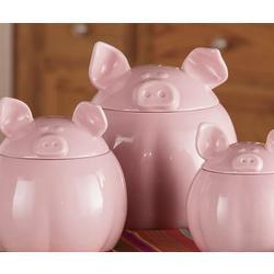 Pink Pig Canister Set