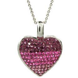 Sparkling Swarovski Crystal Sterling Silver Heart Pendant