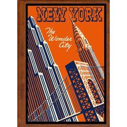 New York City 5 Travel Art Handmade Leather Photo Album