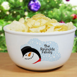 Personalized Ceramic Christmas Bowl