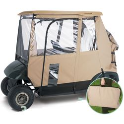 Dexlue 3 Sided Hanging Golf Cart Enclosure