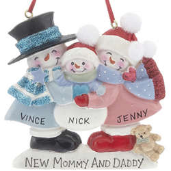 Personalized New Parents Christmas Ornament