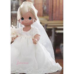 Personalized Blonde Bride Precious Moments Doll