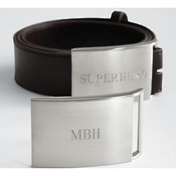 Personalized Belt Buckle with Belt