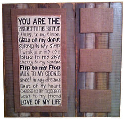 Love of My Life Slat Sign with Frames