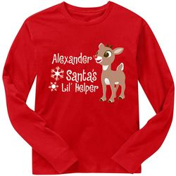 Personalized Rudolph Character Adult Longsleeve T-Shirt