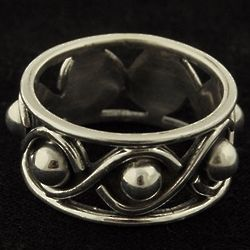 Sterling Infinity Ball Ring