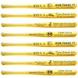 Personalized Laser Engraved Mini Baseball Bat