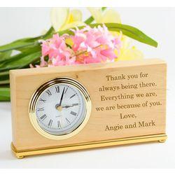 Alder Rectangle Personalized Desk Clock