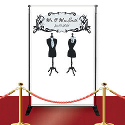 Mr. and Mrs. Custom Red Carpet Wedding Banner