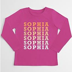 Kid's Repeating Name Personalized Shirt