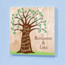 Personalized Sisters Tree Plaque