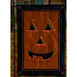 Jack-o-Lantern Fiber Optic House Flag