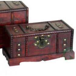 Small Pirate Style Treasure Chest Keepsake Box