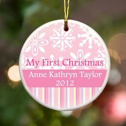Personalized Girl's My First Christmas Ornament