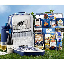 Picnic Backpack for 4 with Edenbrook Chardonnay