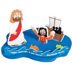 3D Jesus & Peter Walk on Water Floating Craft Kit