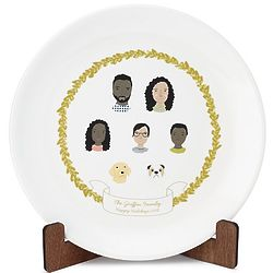 """Personalized Family Portrait 10"""" Plate"""
