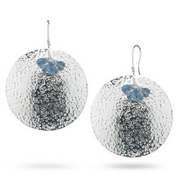 Swiss Blue Topaz Earrings in Sterling Silver