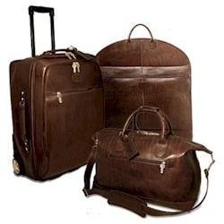 Saddle Leather Luggage Set