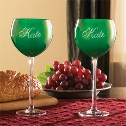 Personalized Green Goblets