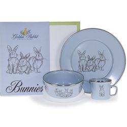 Blue Bunny Dish Set