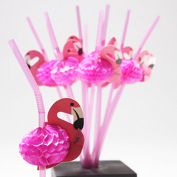 Tissue Flamingo Straws