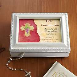 Personalized Communion/Confirmation Music Box