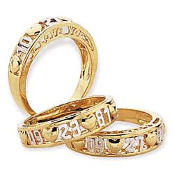 "10K Gold ""True Love"" Anniversary Ring"