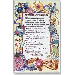 Teen Be-Attitudes Plaque for a Girl