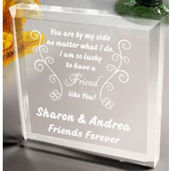 Personalized Butterfly Friend Plaque and Paperweight
