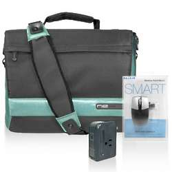 Laptop Messenger Bag with Travel Accessories