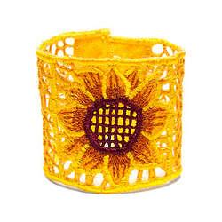 Sunflower Embroidered Bracelet