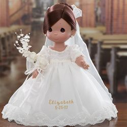 Personalized Brunette Bride Doll